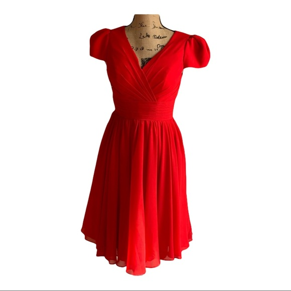 Light In The Box red cap sleeve dress size…